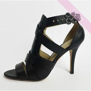 Coach Black Mila Gladiator Strappy Heels